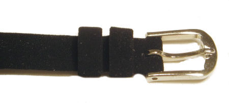 Black Suede Watch Band