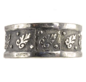 Victorian Style Civil War Era Sterling Silver 85mm Patterned